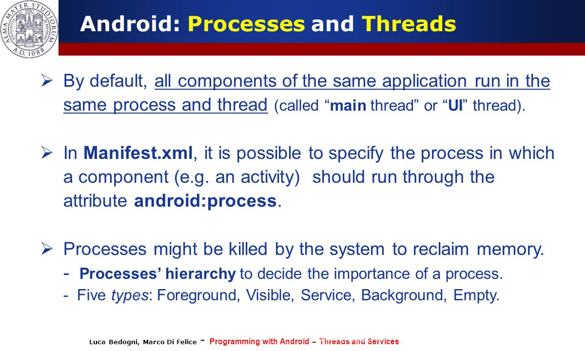 Android: Processes and Threads