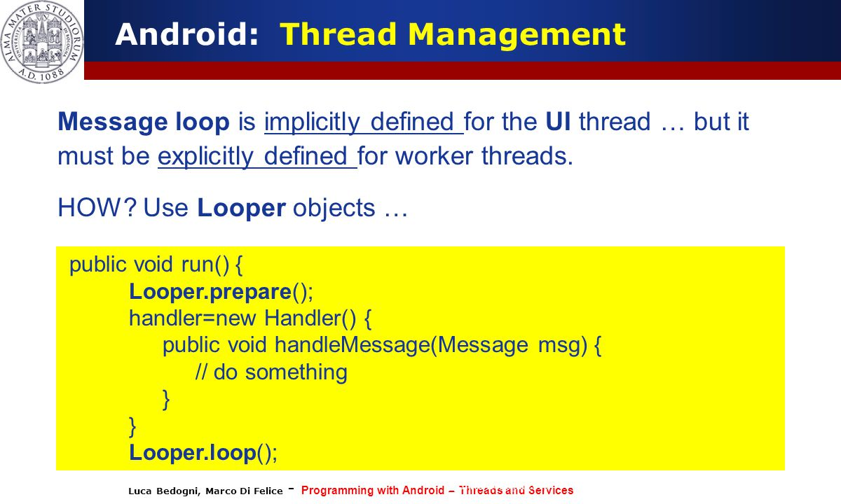 Android: Thread Management