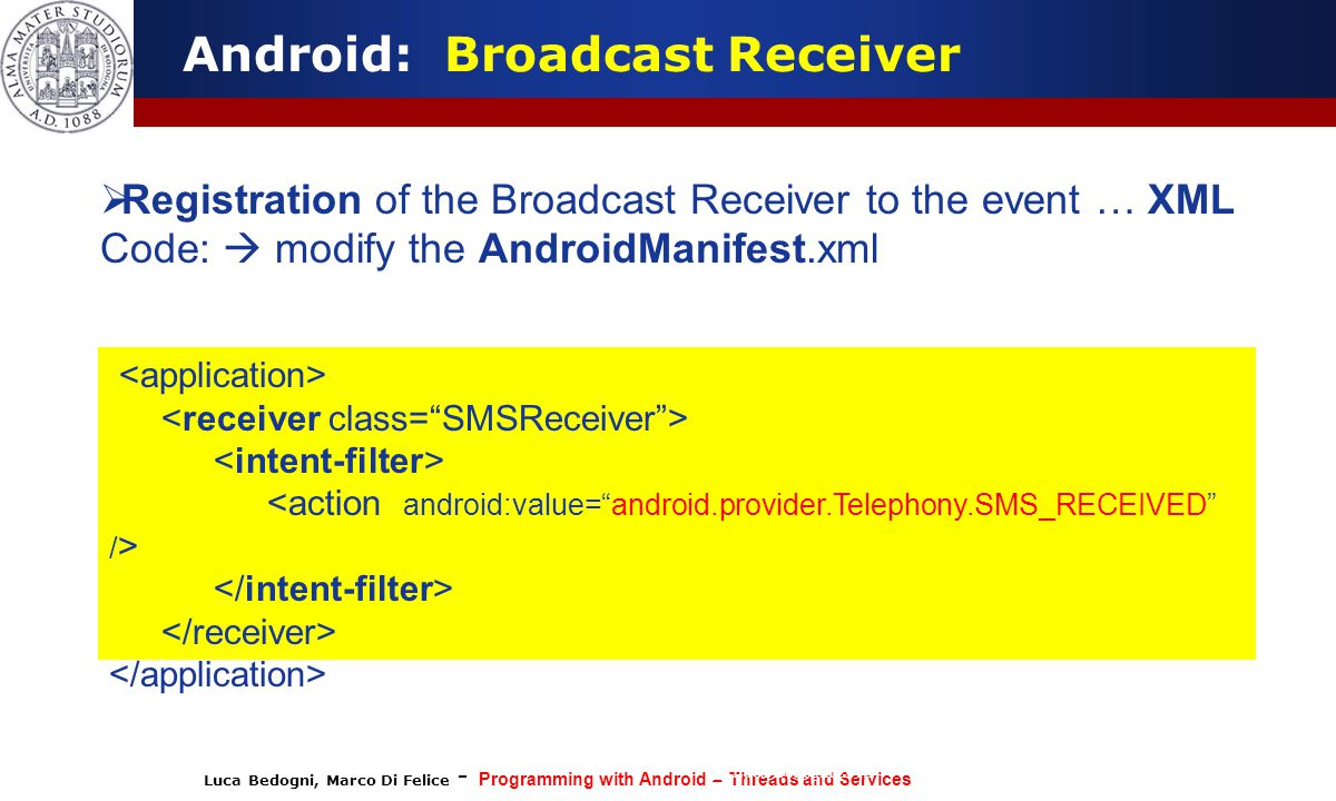 Android: Broadcast Receiver