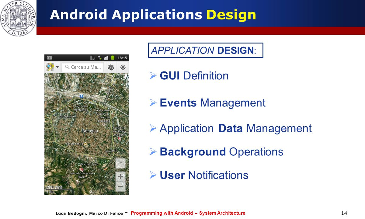 Android Applications Design