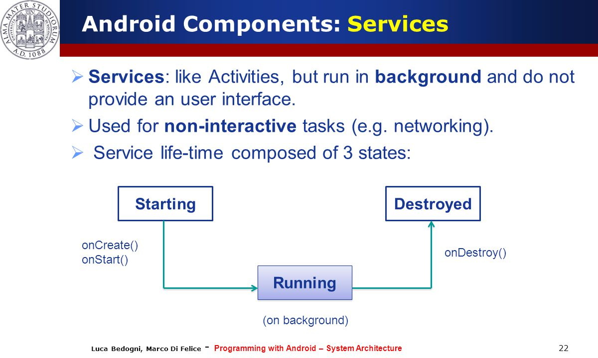 Android Components: Services