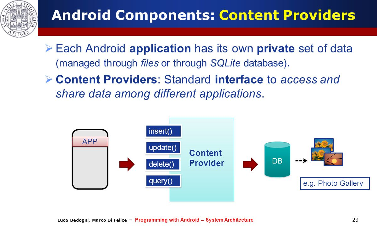 Android Components: Content Providers