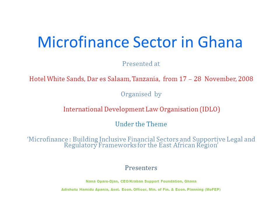 Microfinance Sector in Ghana