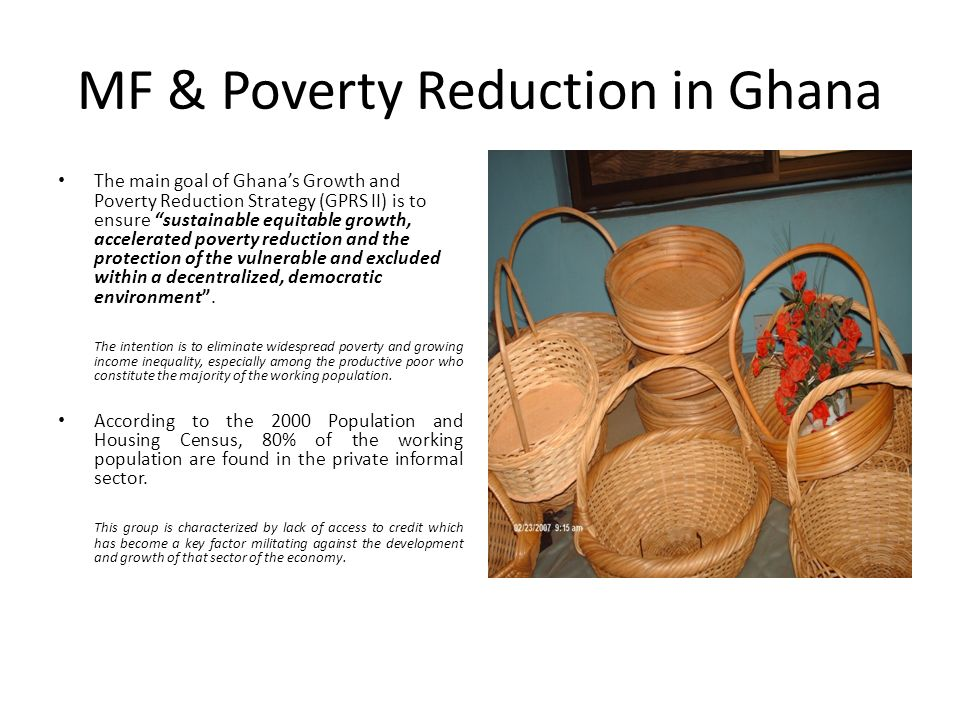MF & Poverty Reduction in Ghana
