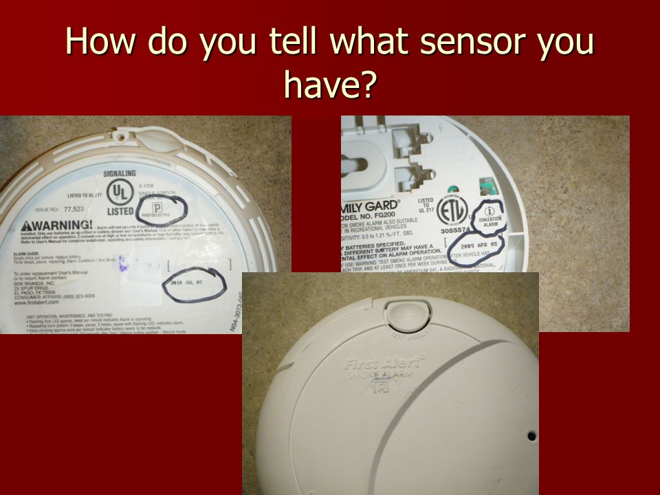 How do you tell what sensor you have