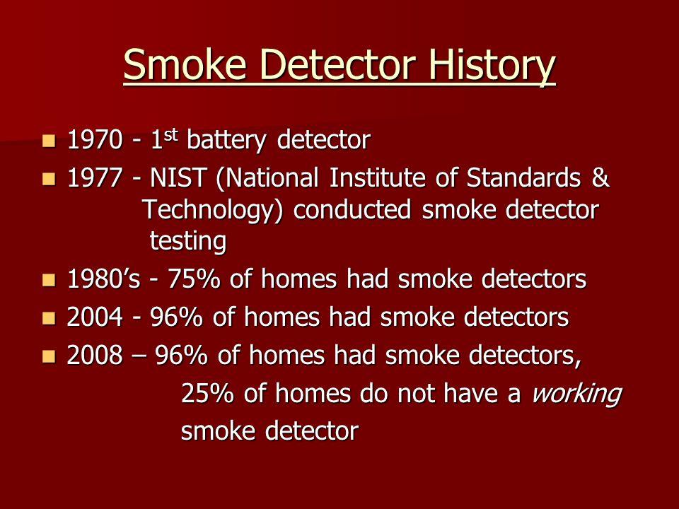 Smoke Detector History