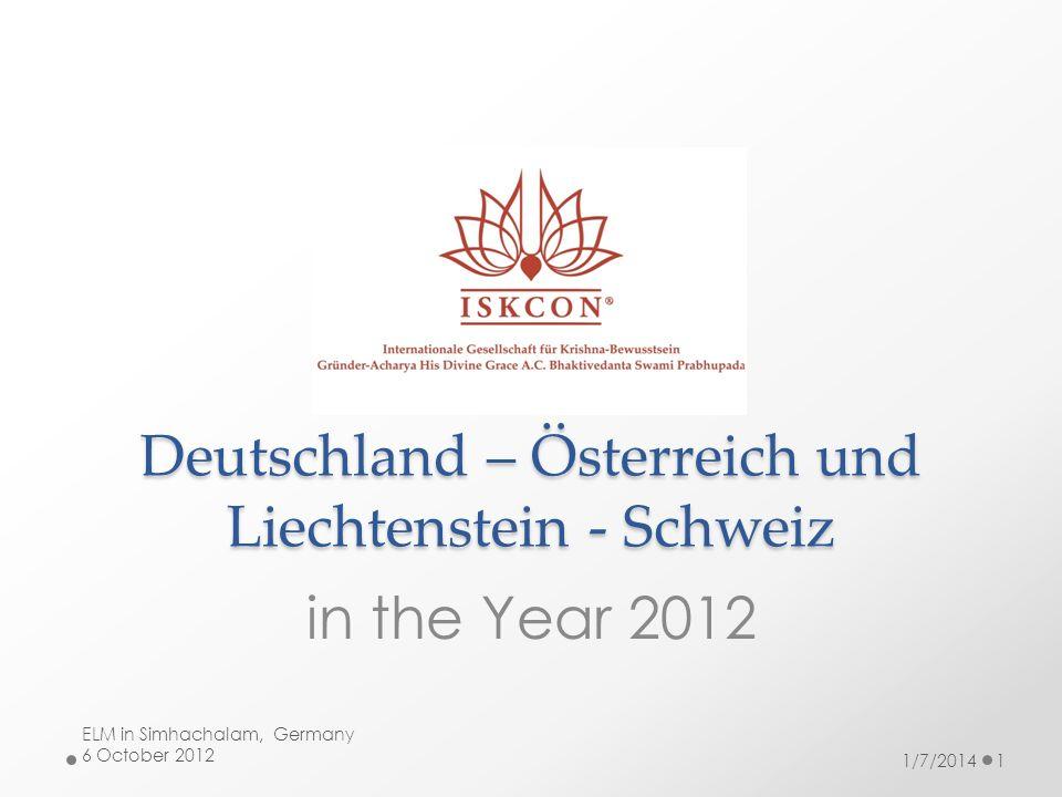 Deutschland – Österreich und Liechtenstein - Schweiz