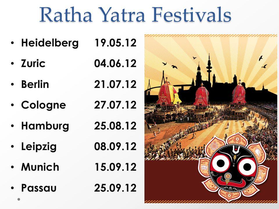 Ratha Yatra Festivals Heidelberg 19.05.12 Zuric 04.06.12