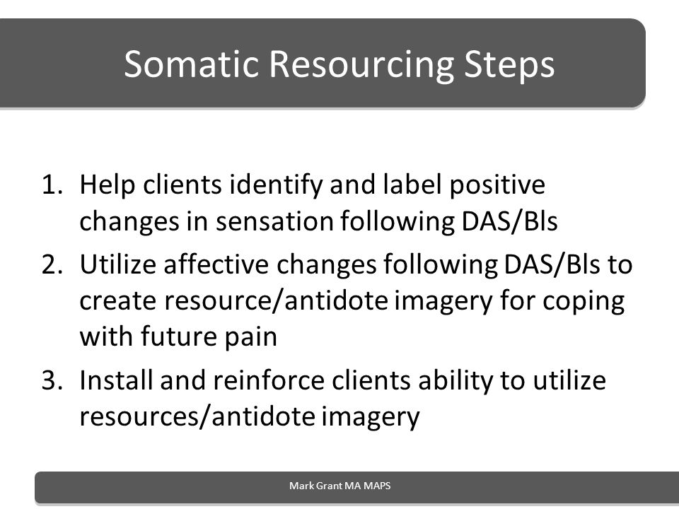 Somatic Resourcing Steps