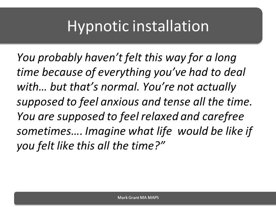 Hypnotic installation