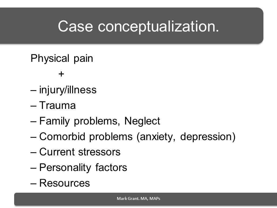 Case conceptualization.