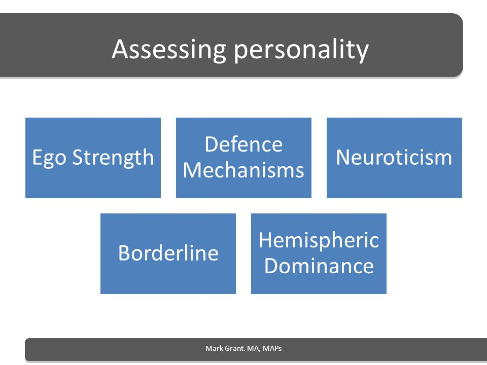 Assessing personality