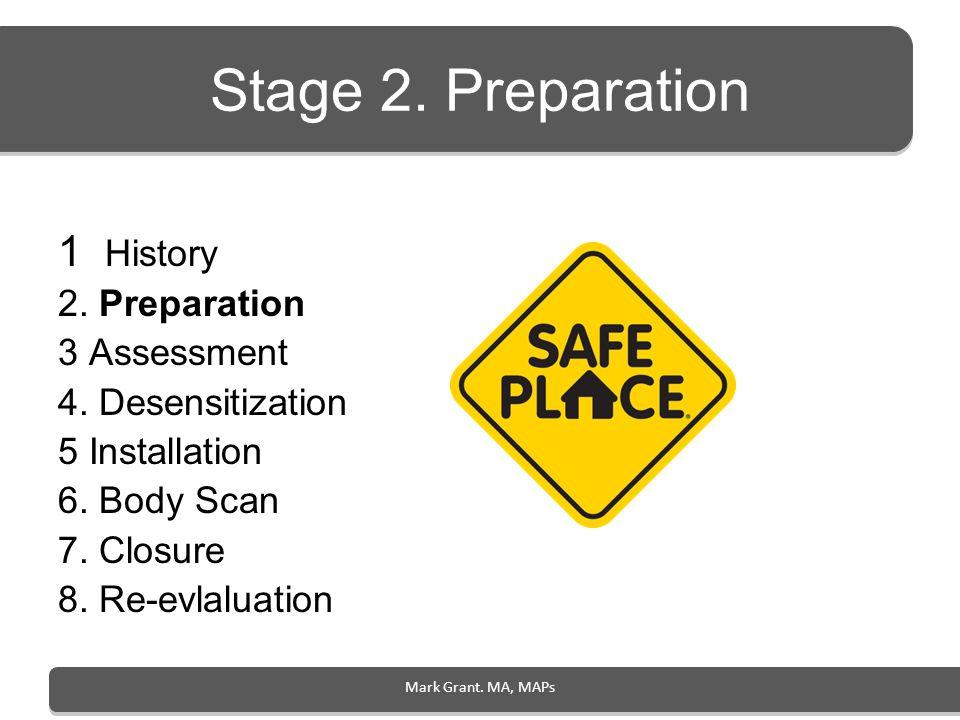 Stage 2. Preparation 1 History 2. Preparation 3 Assessment