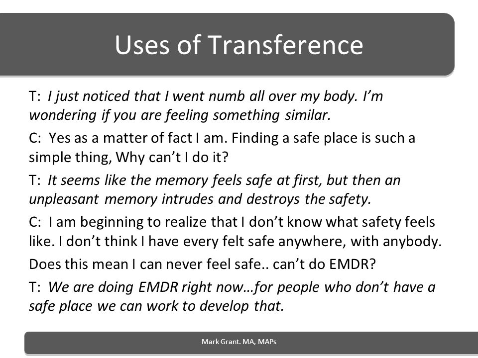 Uses of Transference