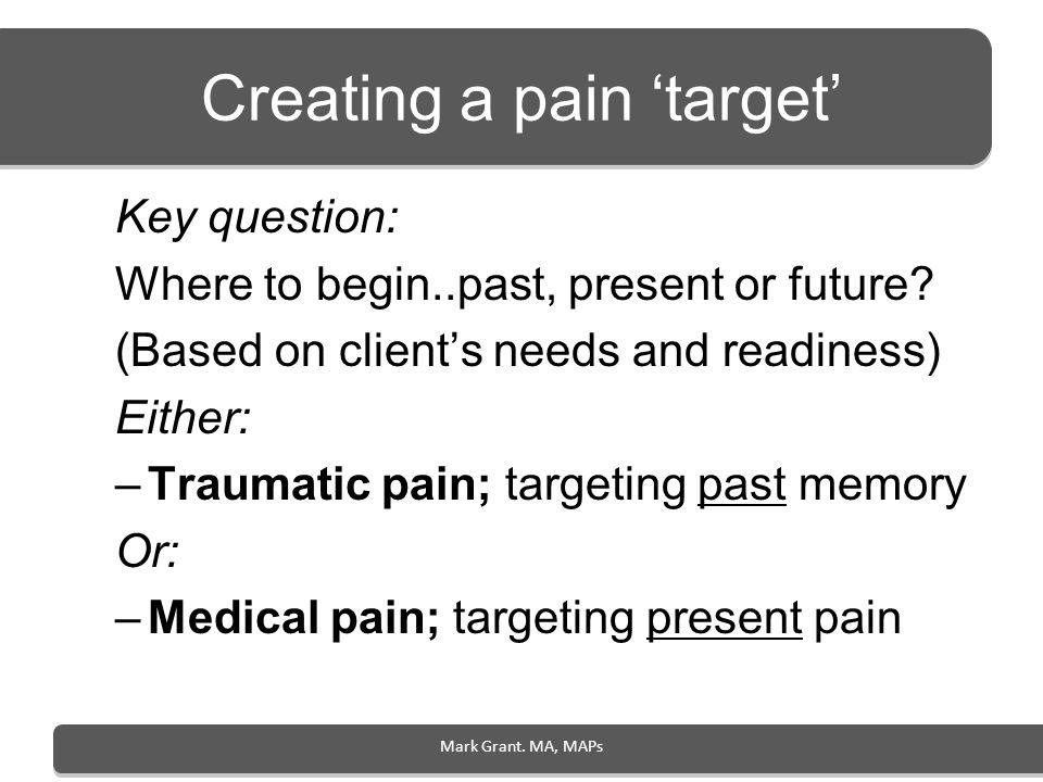 Creating a pain 'target'