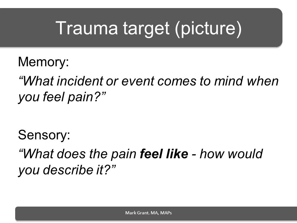 Trauma target (picture)