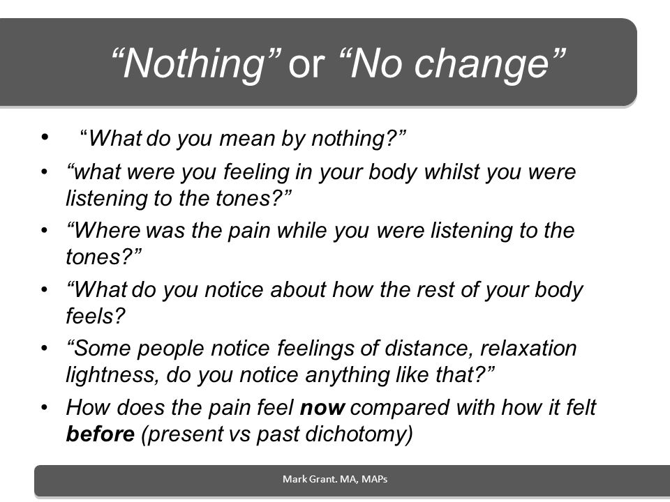 Nothing or No change