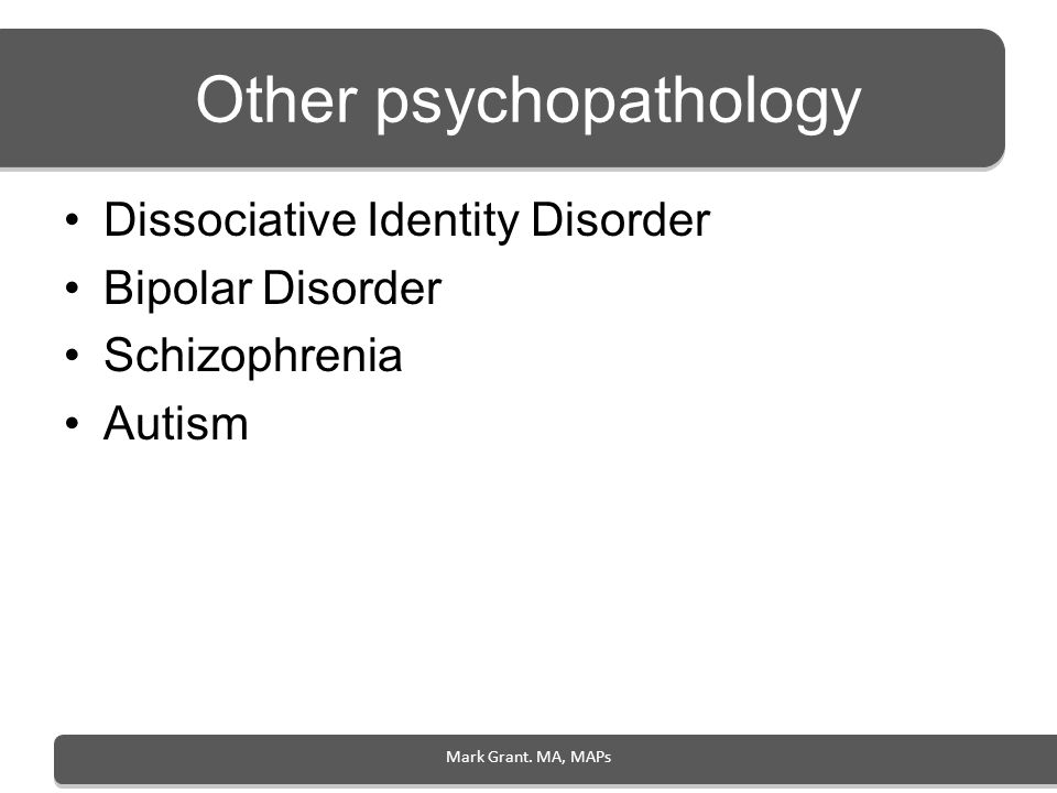 Other psychopathology