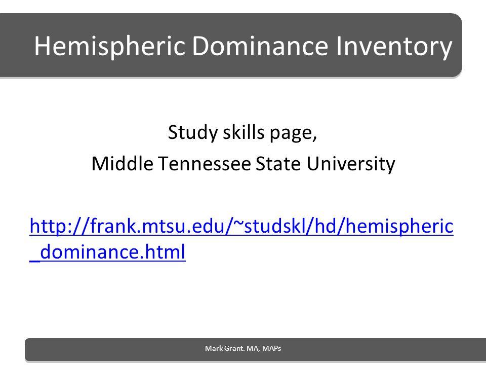Hemispheric Dominance Inventory
