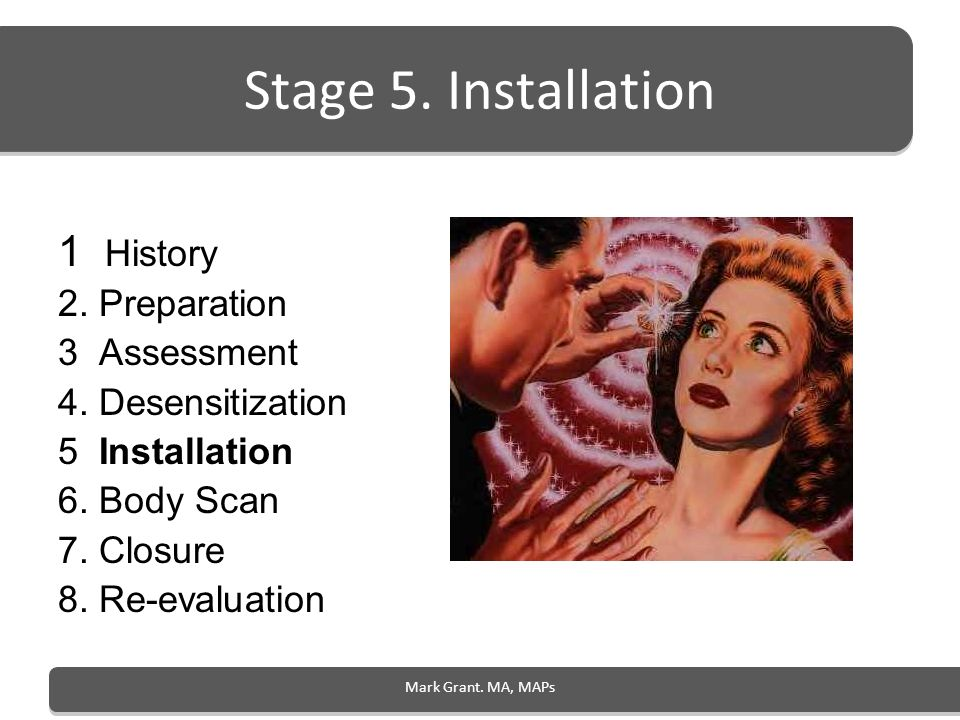 Stage 5. Installation 1 History 2. Preparation 3 Assessment