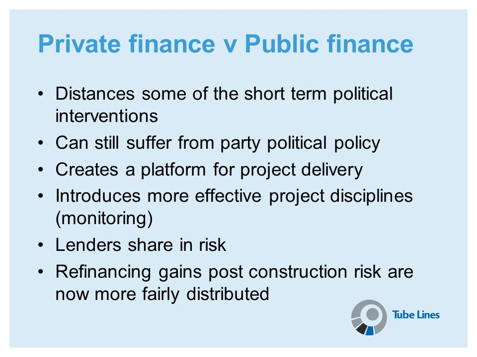 Private finance v Public finance