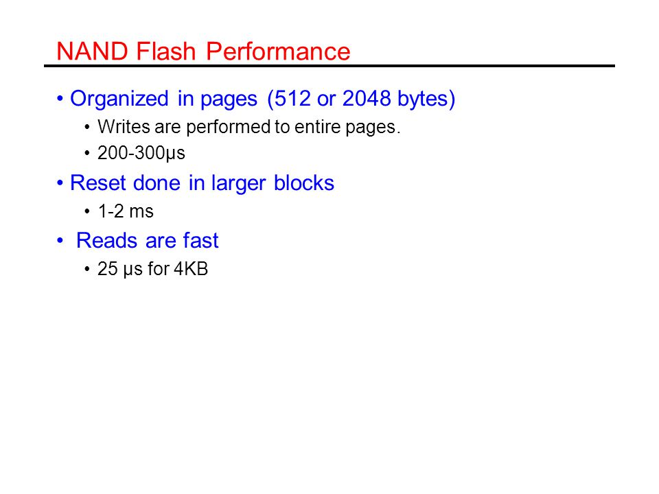 NAND Flash Performance