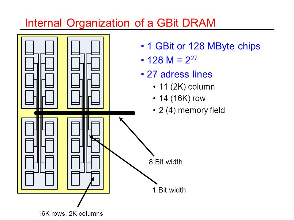 Internal Organization of a GBit DRAM