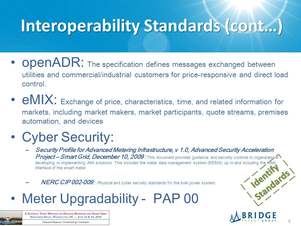 Interoperability Standards (cont…)