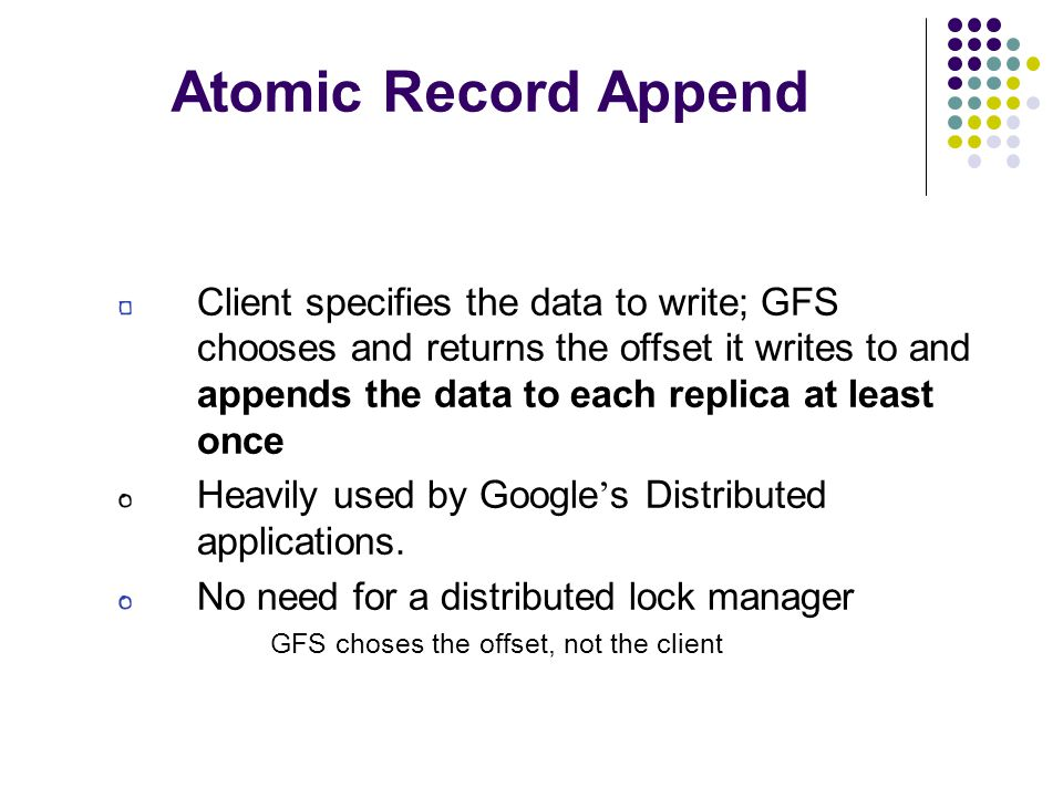Atomic Record Append
