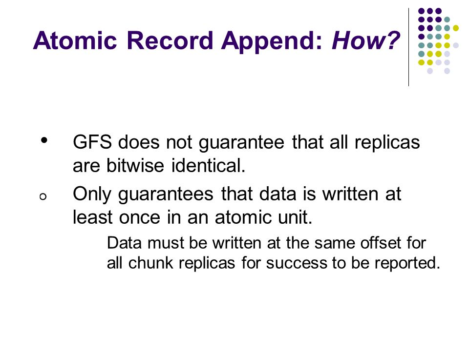 Atomic Record Append: How