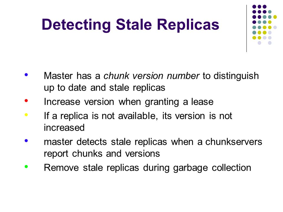 Detecting Stale Replicas