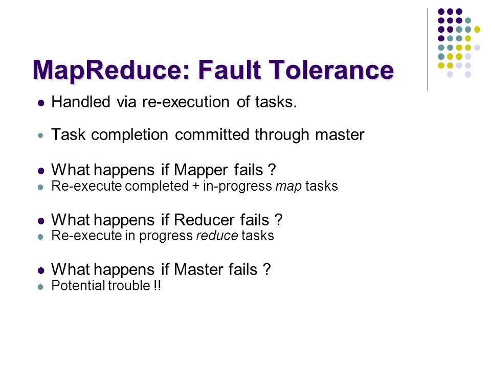 MapReduce: Fault Tolerance