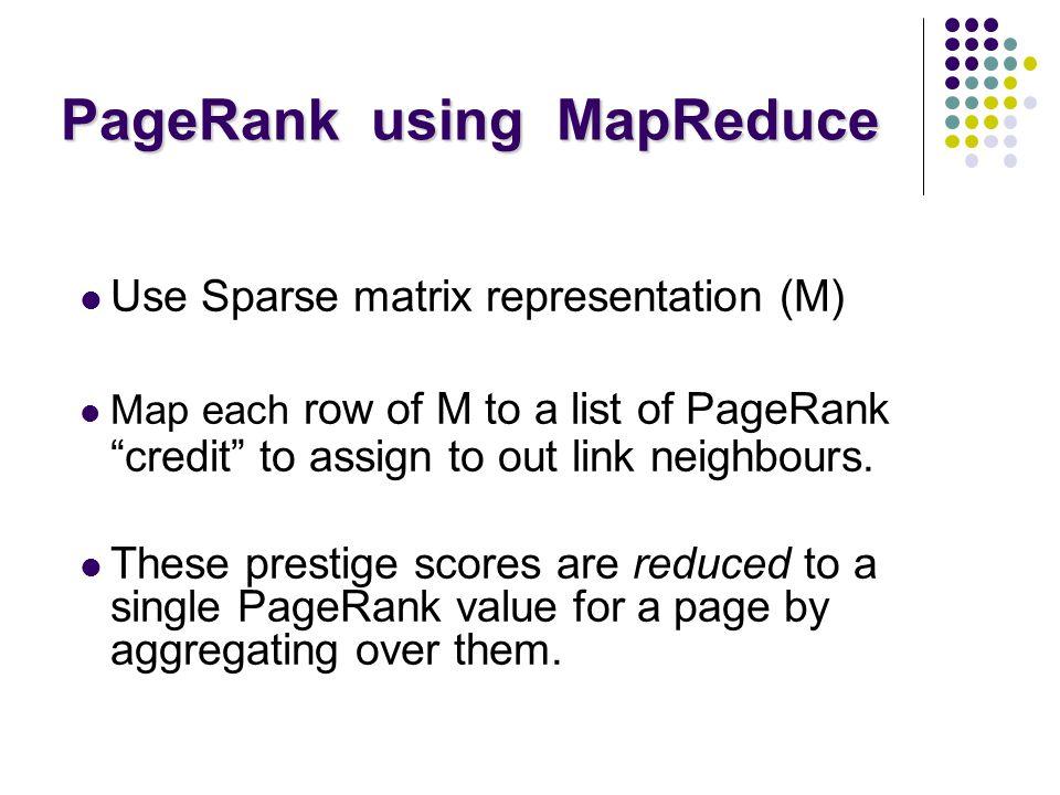 PageRank using MapReduce
