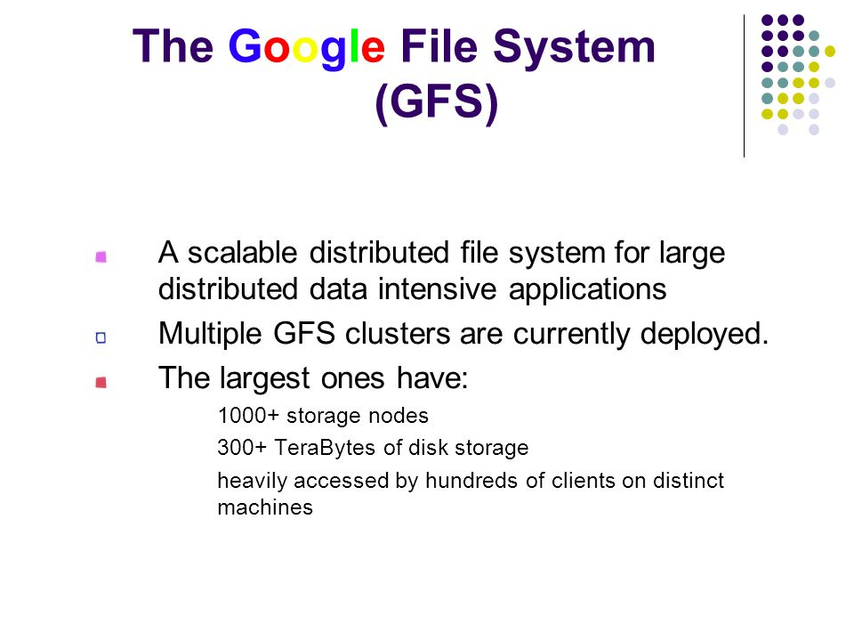 The Google File System (GFS)