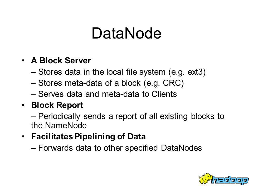 DataNode A Block Server