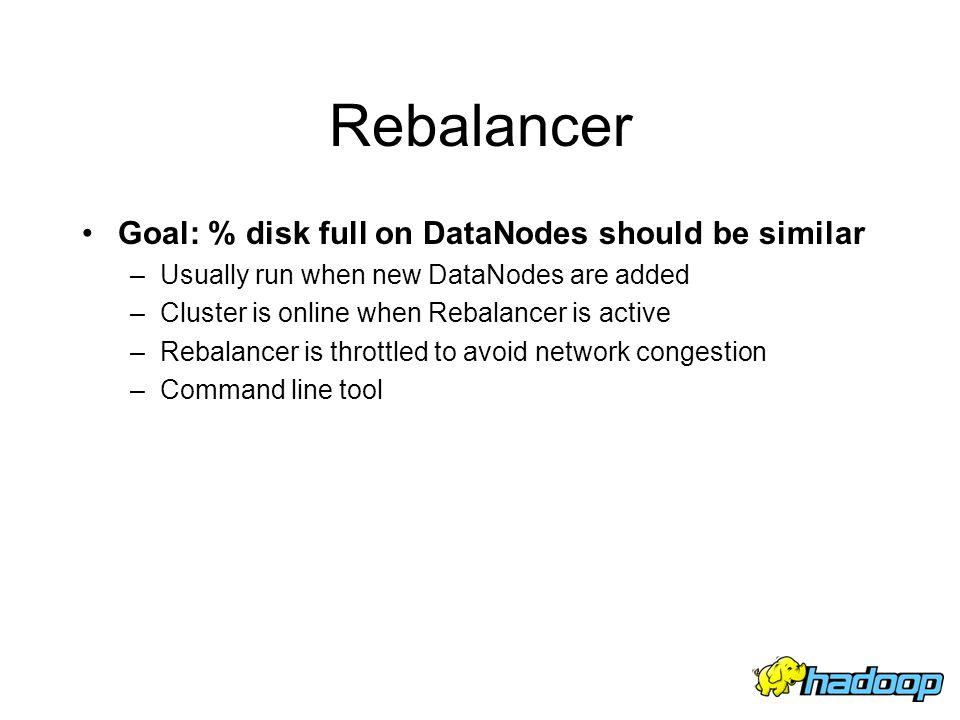 Rebalancer Goal: % disk full on DataNodes should be similar