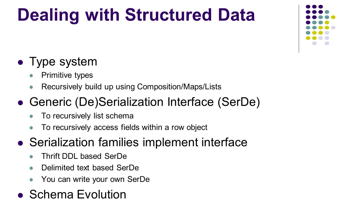 Dealing with Structured Data