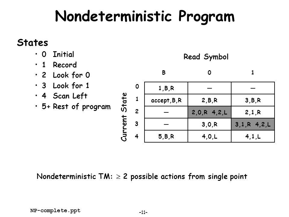 Nondeterministic Program