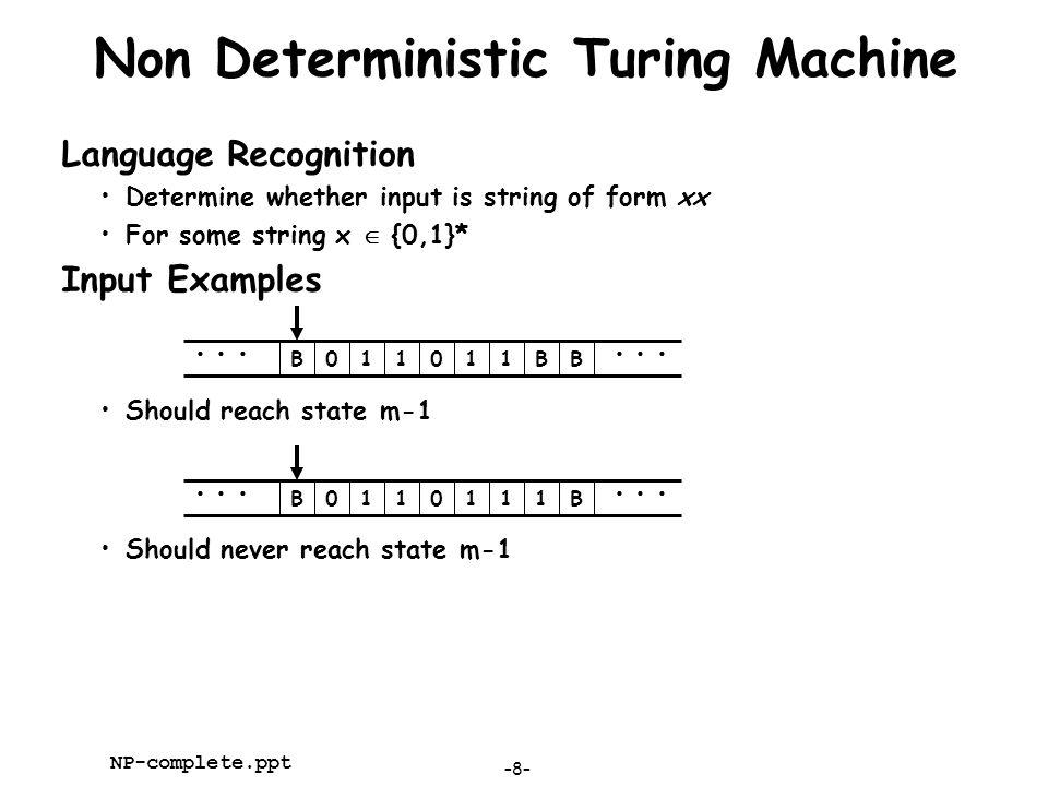 Non Deterministic Turing Machine
