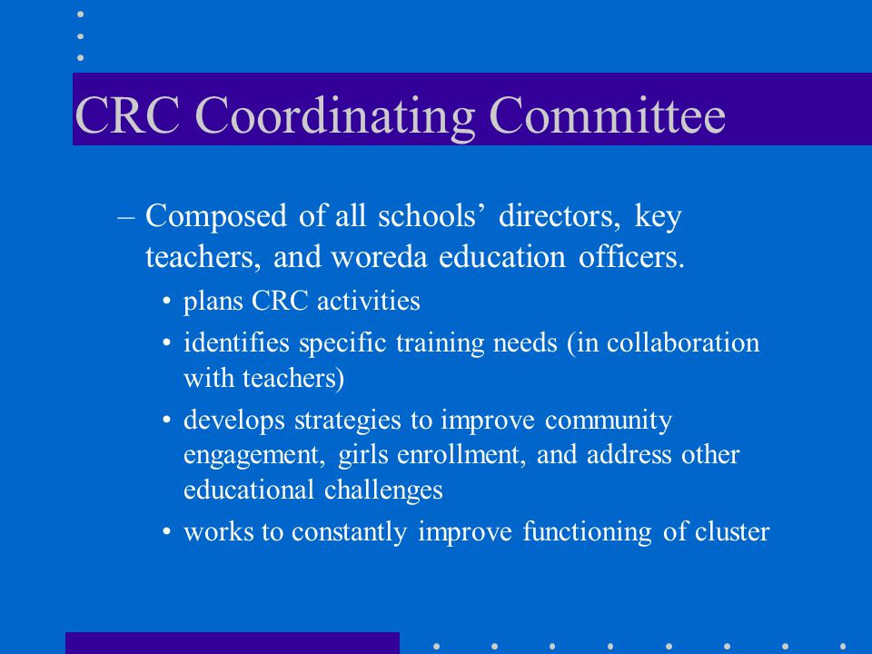 CRC Coordinating Committee
