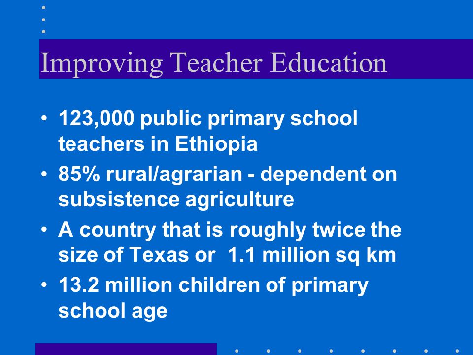 Improving Teacher Education