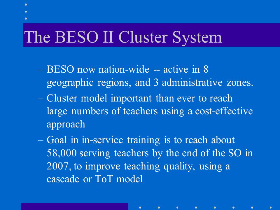 The BESO II Cluster System