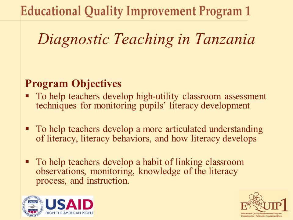 Diagnostic Teaching in Tanzania