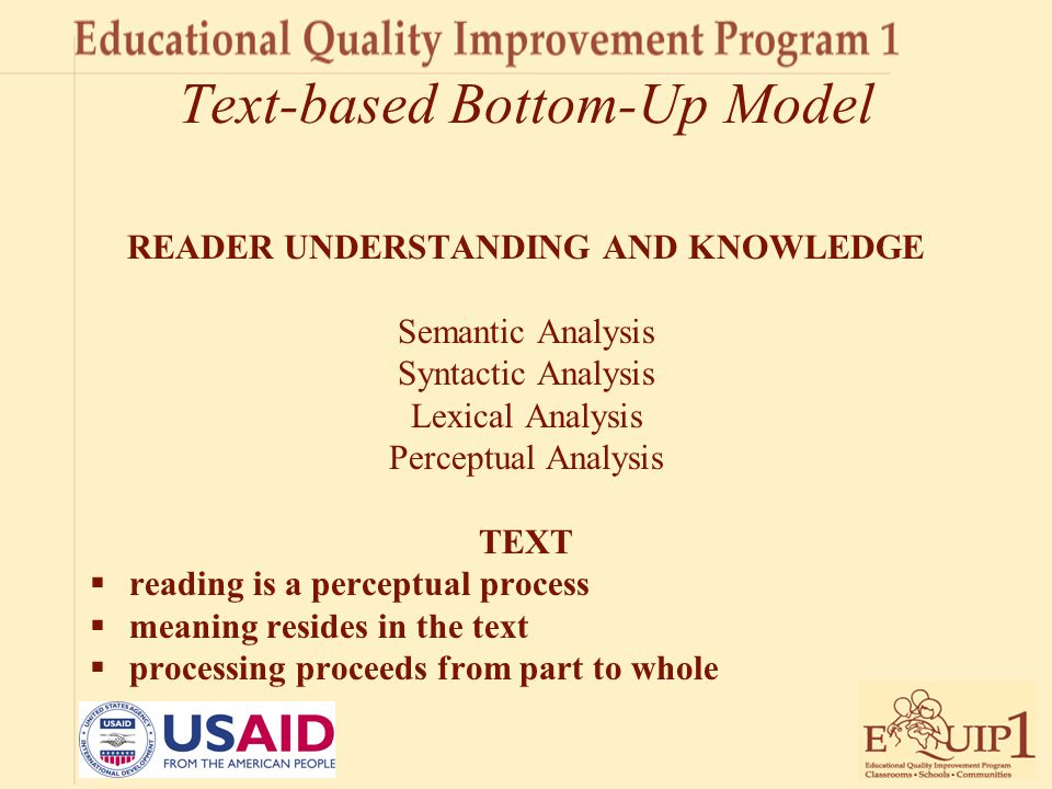 Text-based Bottom-Up Model