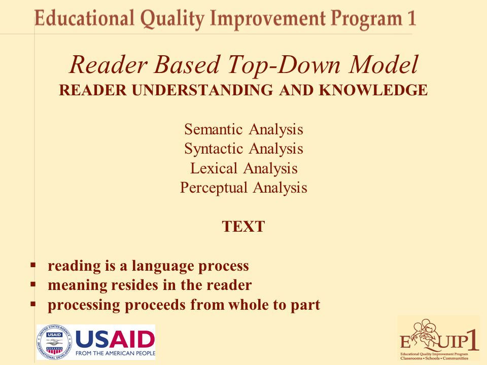 Reader Based Top-Down Model