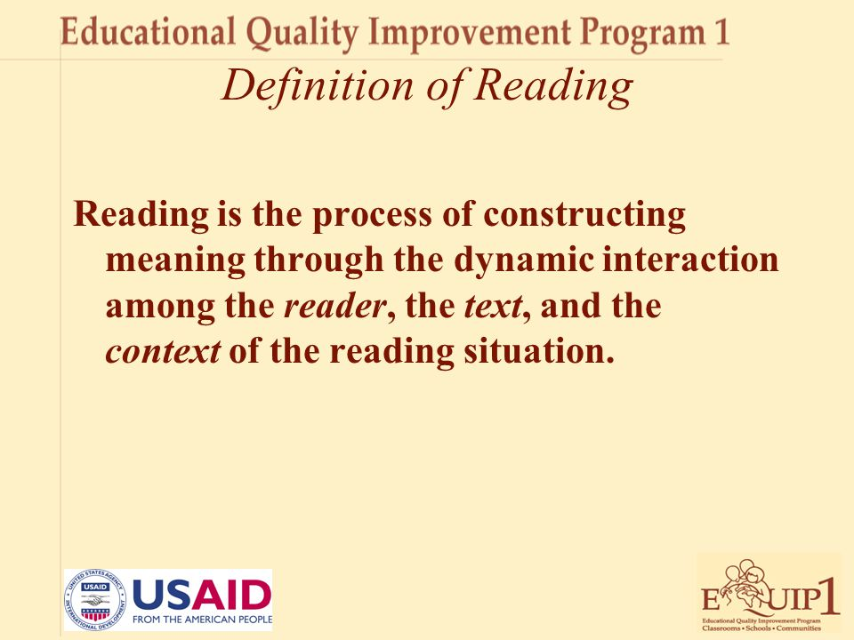 Definition of Reading