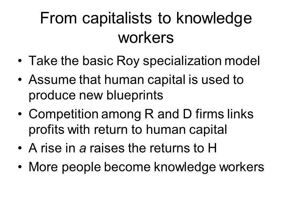 From capitalists to knowledge workers