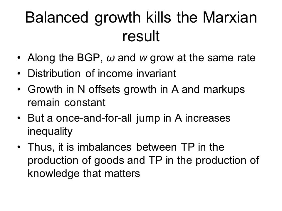 Balanced growth kills the Marxian result