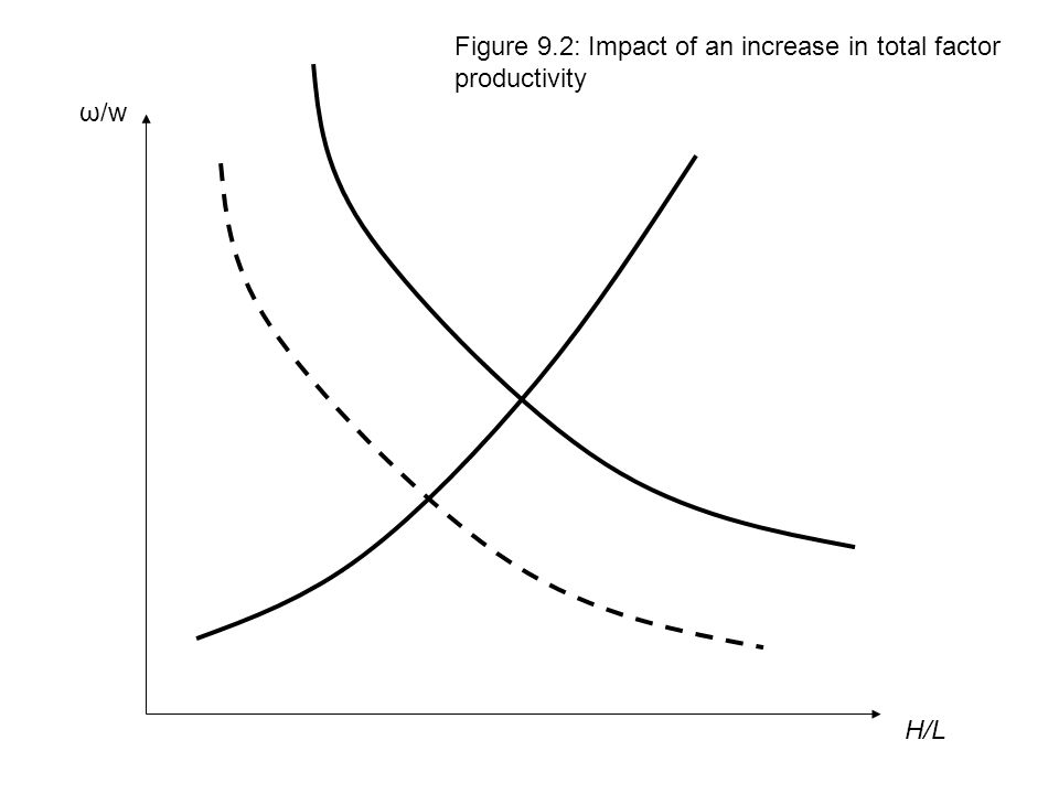 Figure 9.2: Impact of an increase in total factor