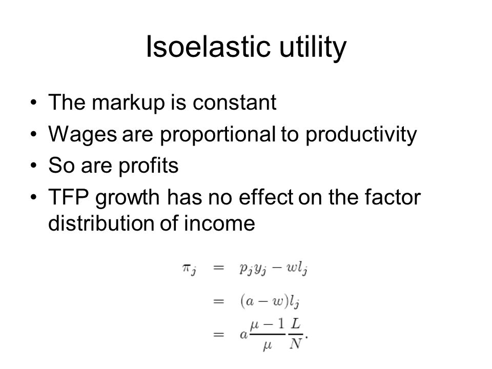 Isoelastic utility The markup is constant